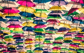 Preview wallpaper Lots of colorful umbrellas
