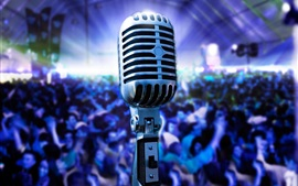 Aperçu fond d'écran Photographie de microphone