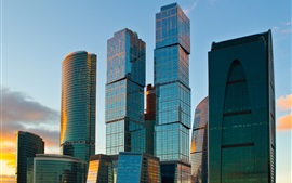 Preview wallpaper Moscow, skyscrapers, city, Russia