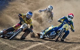 Preview wallpaper Motorcycle race, dirt, drift, sports
