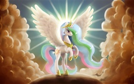 Preview wallpaper My Little Pony, princess, wings, art drawing
