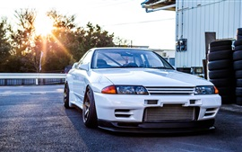 Preview wallpaper Nissan GTR R32 Skyline white classic car