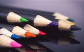 Preview wallpaper Pencils, colors, still life macro photography