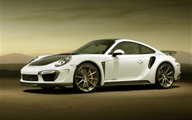Preview wallpaper Porsche 911 GTR white supercar