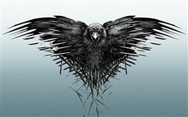 Preview wallpaper Raven, swords, Game of Thrones