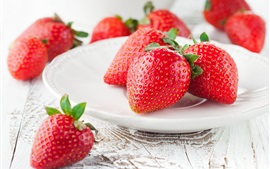 Preview wallpaper Ripe strawberry, red berries, sweet fruit
