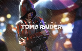 Preview wallpaper Rise of the Tomb Raider, Lara Croft, rain, night