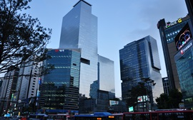 Samsung headquarters, skyscrapers, Seoul, Korea
