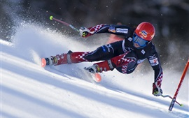 Preview wallpaper Ski sports, race, speed, snow