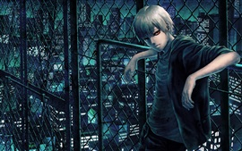 Preview wallpaper Tokyo Ghoul, red eyes anime boy