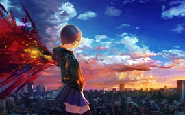 Preview wallpaper Tokyo Ghoul, short hair anime girl