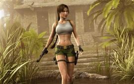 Tomb Raider, Лара Крофт, шорты, крокодил