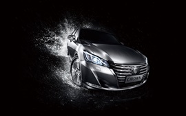 Preview wallpaper Toyota Crown silver car front view