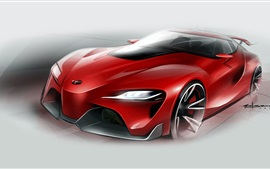 Preview wallpaper Toyota FT-1 red supercar figure