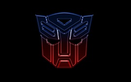 Preview wallpaper Transformers logo, black background