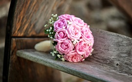 Preview wallpaper Wedding flowers, bouquet, pink roses