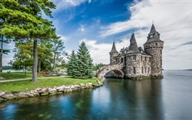 Alexandria Bay, Boldt Castle, USA, New York, island, sea