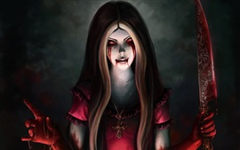 Alice Madness Returns, sangre, cuchillo