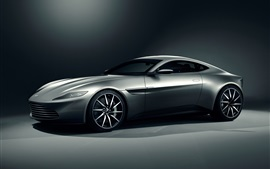 Preview wallpaper Aston Martin DB10 gray supercar