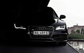 Preview wallpaper Audi black car front view