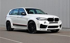 BMW F15 white SUV car