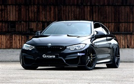 Preview wallpaper BMW G-Power F82 black coupe