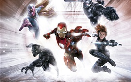 Captain America: Civil War, superheroes, art picture
