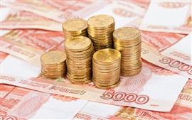 Cash, currency, coins, rubles