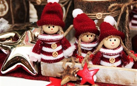 Preview wallpaper Christmas decoration, elves toys