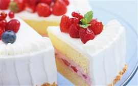 Preview wallpaper Delicious cake, dessert, sweet food, cream, strawberry