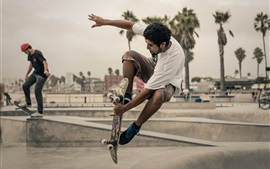 Preview wallpaper Extreme sports, street skateboarding, city