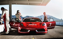Preview wallpaper Ferrari F430 Dream Racing, red supercar front view