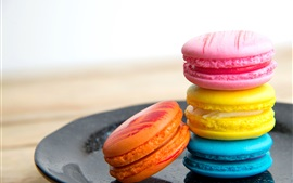 Preview wallpaper French dessert, macaron, cookies, colorful