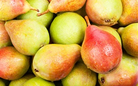 Preview wallpaper Fresh pears, sweet fruit, water drops