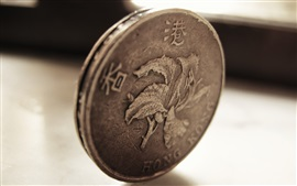 Preview wallpaper Hong Kong dollar, coins