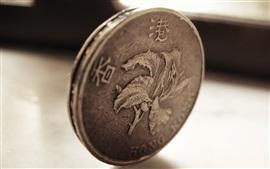 Vorschau des Hintergrundbilder Hongkong-Dollar, Münzen