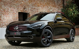 Infiniti QX70 black SUV car