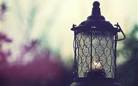 Lantern, rain, water drops