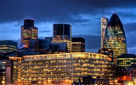 Preview wallpaper London, England, night, city, buildings, lights
