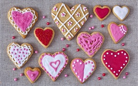 Preview wallpaper Love hearts cookies, Valentines