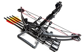 MK-400 crossbow, weapon, white background