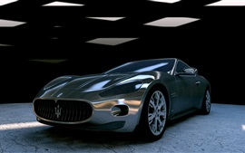 Preview wallpaper Maserati GT supercar front view