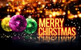 Feliz Navidad, Feliz Año Nuevo, bolas, el brillo de fondo
