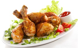 Preview wallpaper One dish chicken legs, delicious food