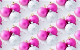 Pink and white Christmas balls
