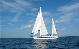 Preview wallpaper Sailboat, yacht, sea