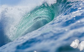 Preview wallpaper Sea waves, ocean, water splash