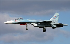 Preview wallpaper Su-27 multipurpose fighter, flight