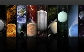 Preview wallpaper The planets of the solar system