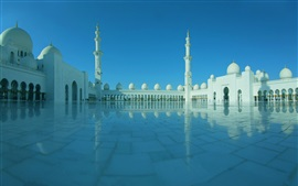壁紙のプレビュー アラブ首長国連邦、アブダビ、シェイクザイードグランドモスク